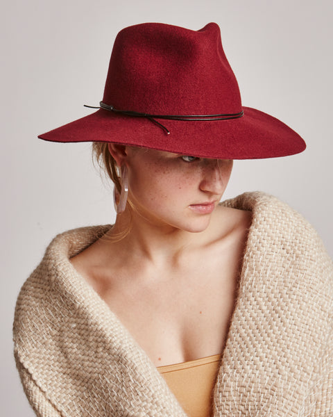 Wakefield wool hat in Wine