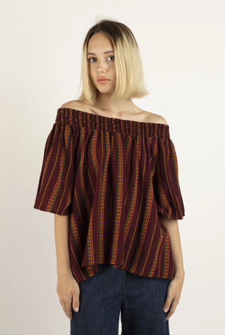 Marisol top in Garnet