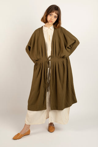 Zoe coat in kelp