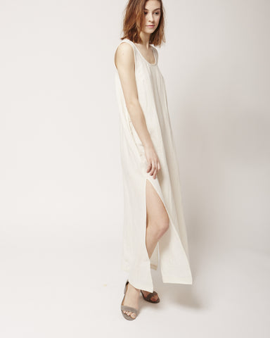 Jayna Dress in cream linen