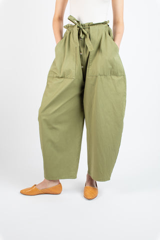 Marga balloon pants in moss