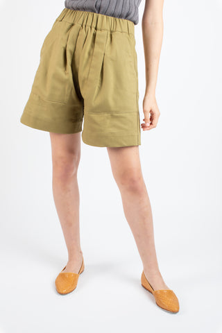Utility shorts in green tea