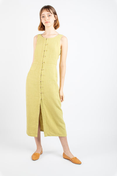 Galatea linen dress in green