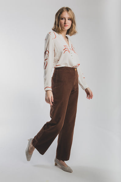 Clara corduroy pants in Brown