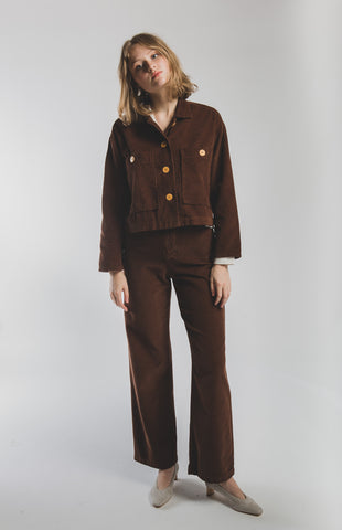 Dori corduroy jacket in Brown