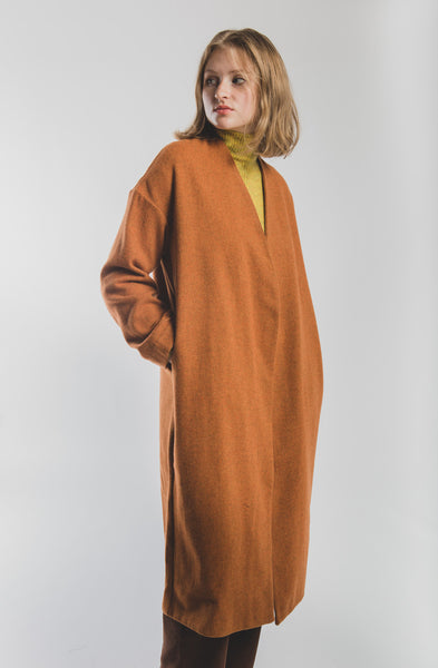 Julieta coat in Intense Orange