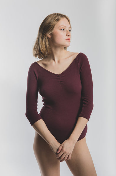 Alejandra bodysuit in Dark Mauve