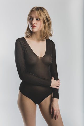 Pam Body in black Fine Mesh