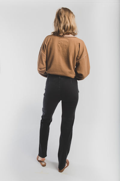 Walker pants in washed black