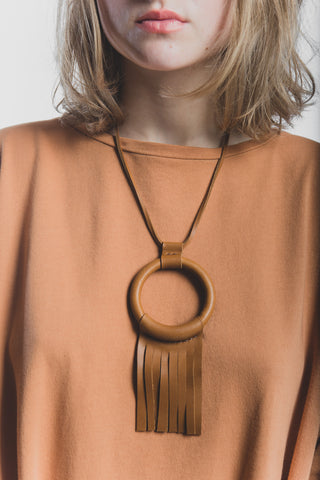 Ritual necklace in saddle brown