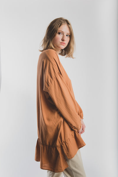 Nathalie shirt in tangerine