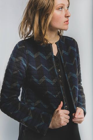 Quilted jacket in Dusk