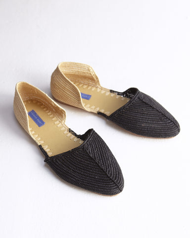 Raffia Bicolore Slides - Founders & Followers - Proud Mary - 1