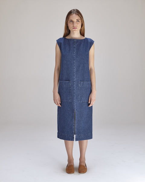 Lilly Dress in Denim - Founders & Followers - Ilana Kohn - 1