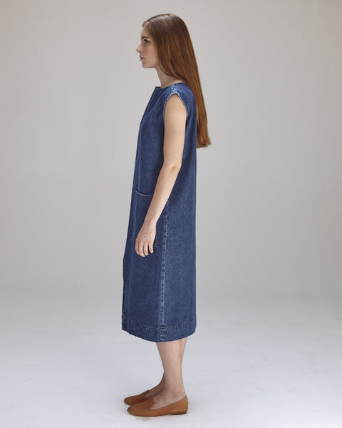 Lilly Dress in Denim - Founders & Followers - Ilana Kohn - 2