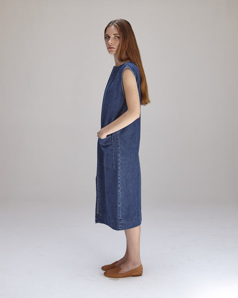 Lilly Dress in Denim - Founders & Followers - Ilana Kohn - 3