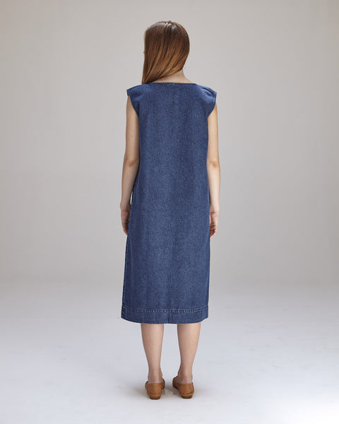 Lilly Dress in Denim - Founders & Followers - Ilana Kohn - 4