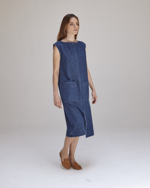 Lilly Dress in Denim - Founders & Followers - Ilana Kohn - 5