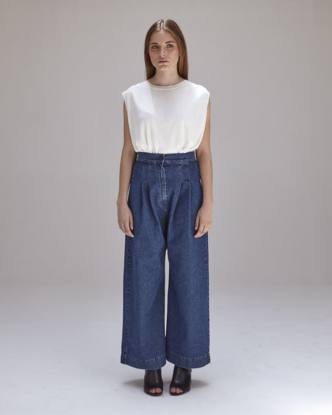 Boyd Pants in Denim - Founders & Followers - Ilana Kohn - 2