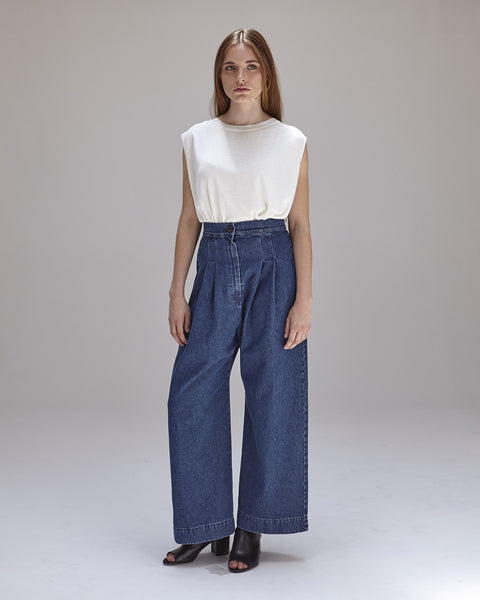 Boyd Pants in Denim - Founders & Followers - Ilana Kohn - 3
