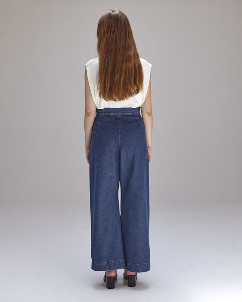 Boyd Pants in Denim - Founders & Followers - Ilana Kohn - 5