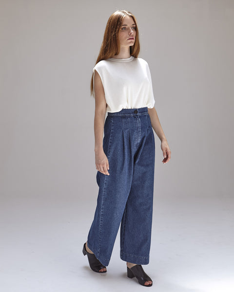 Boyd Pants in Denim - Founders & Followers - Ilana Kohn - 6