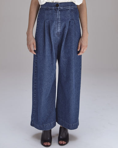 Boyd Pants in Denim - Founders & Followers - Ilana Kohn - 1