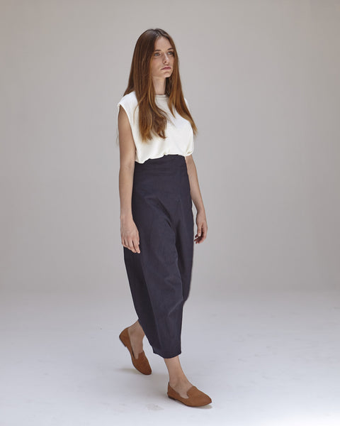 Morris Pants in Navy - Founders & Followers - Caron Callahan - 4