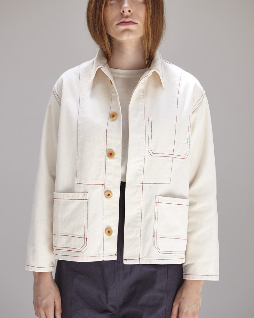 Krasner Jacket in Ivory - Founders & Followers - Caron Callahan - 1