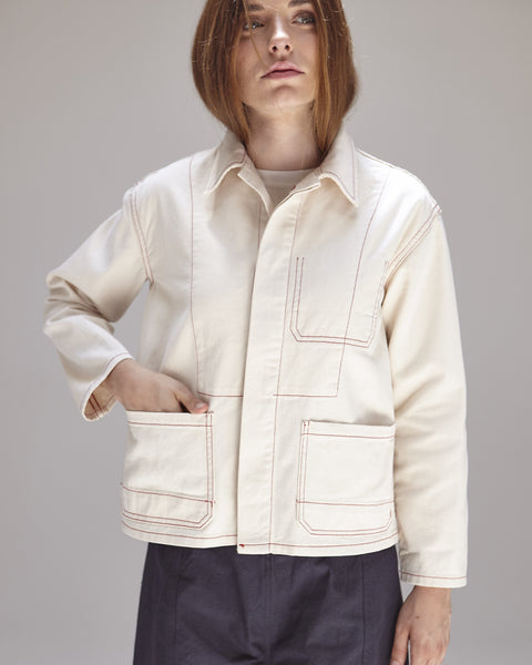 Krasner Jacket in Ivory - Founders & Followers - Caron Callahan - 7