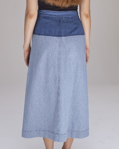 Georgia Skirt in Blue Combo - Founders & Followers - Caron Callahan - 6