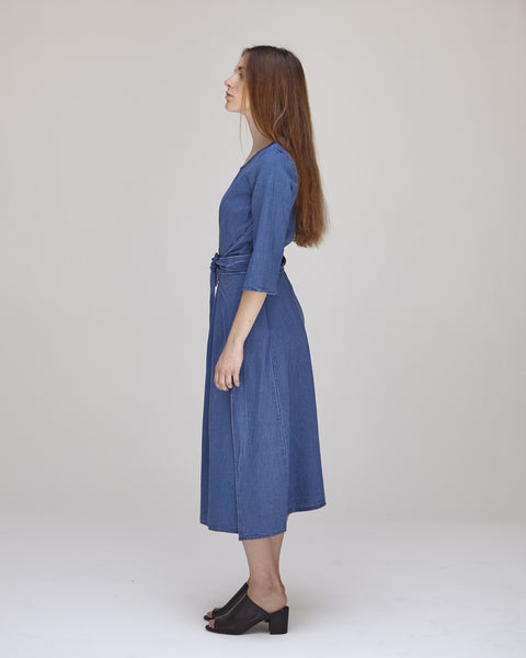 Hester Dress in Indigo - Founders & Followers - Caron Callahan - 3