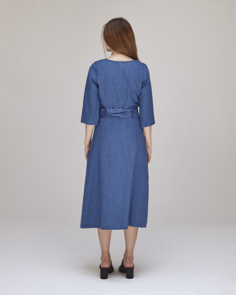 Hester Dress in Indigo - Founders & Followers - Caron Callahan - 4