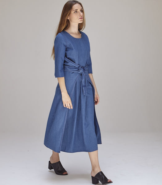 Hester Dress in Indigo - Founders & Followers - Caron Callahan - 5