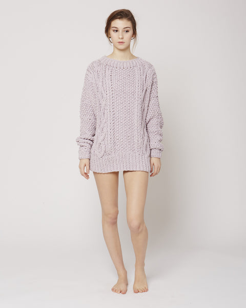 Cable jumper in lilac