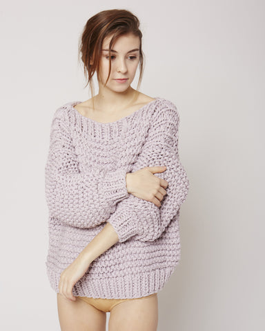 Boatneck jumper in lilac