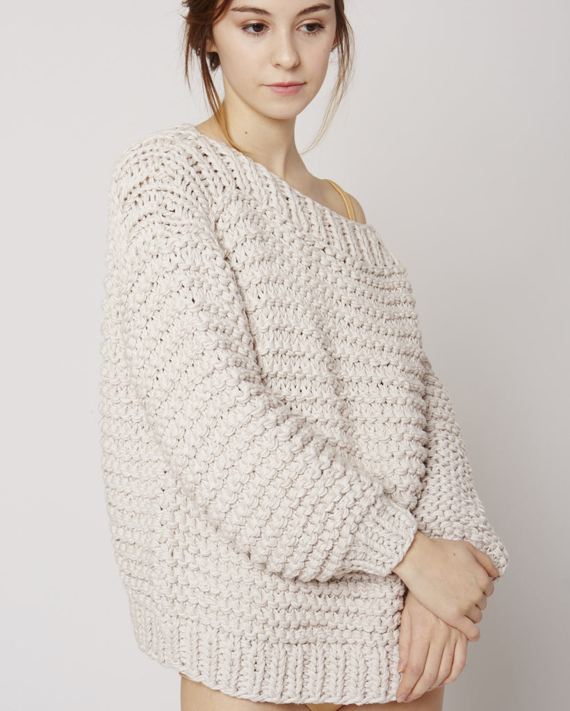 Boatneck jumper in eggshell