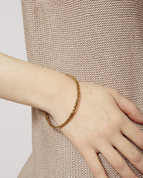 Single Rope brass bracelet