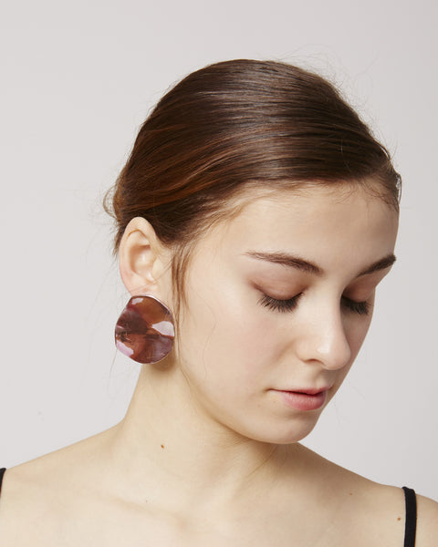Puddle Earrings in pink