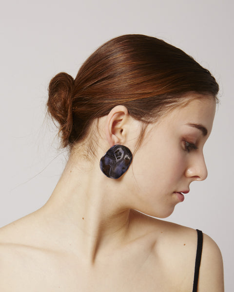 Puddle Earrings in lava