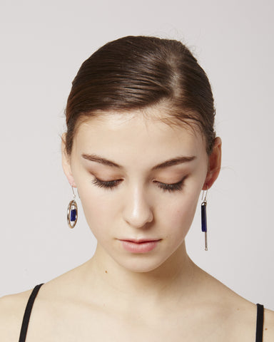 Magalie earrings in blue & silver