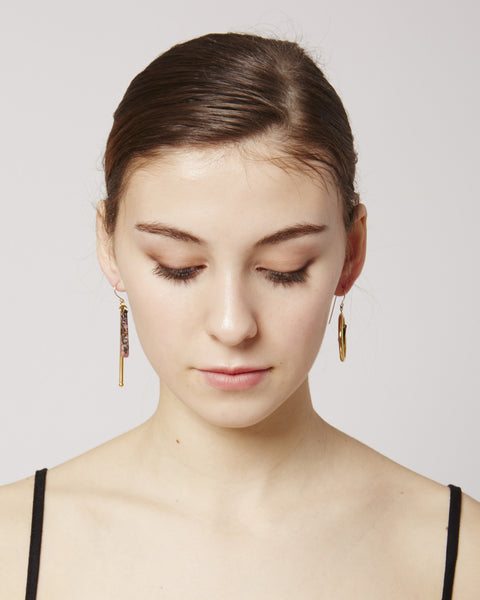 Magalie earrings in pink & gold