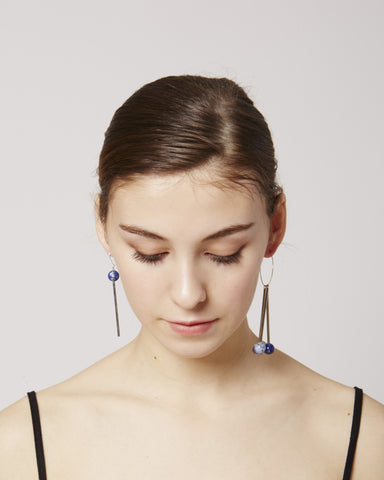Lea earrings in blue & silver