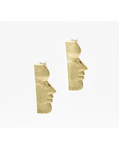 Fille earrings in brass - Founders & Followers - Open House - 1