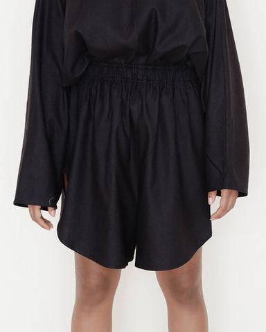 Fortuna silk Shorts in black