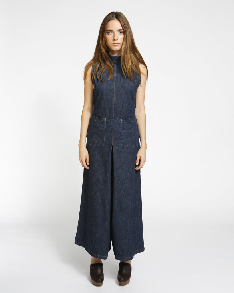 Badge jumpsuit in indigo - Founders & Followers - Rachel Comey - 1