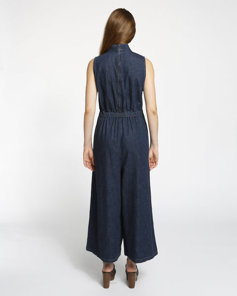 Badge jumpsuit in indigo - Founders & Followers - Rachel Comey - 3