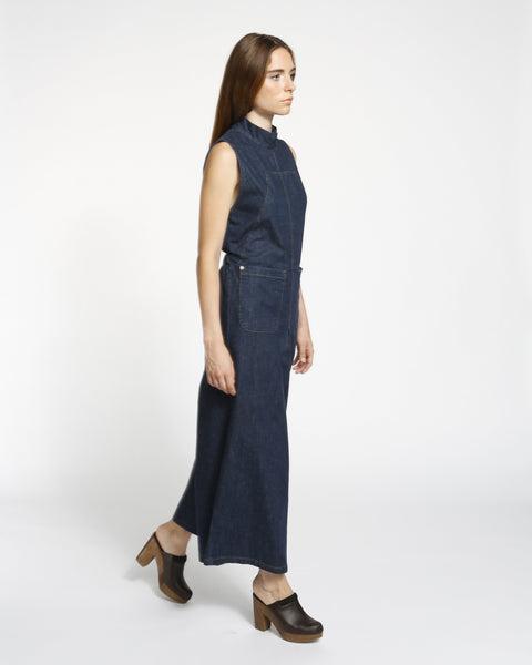 Badge jumpsuit in indigo - Founders & Followers - Rachel Comey - 4