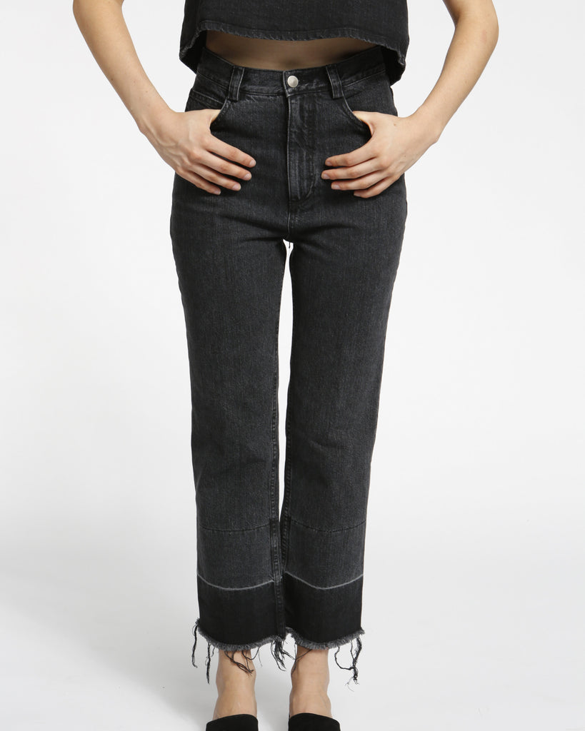 Slim Legion Denim Pant in black - Founders & Followers - Rachel Comey - 1
