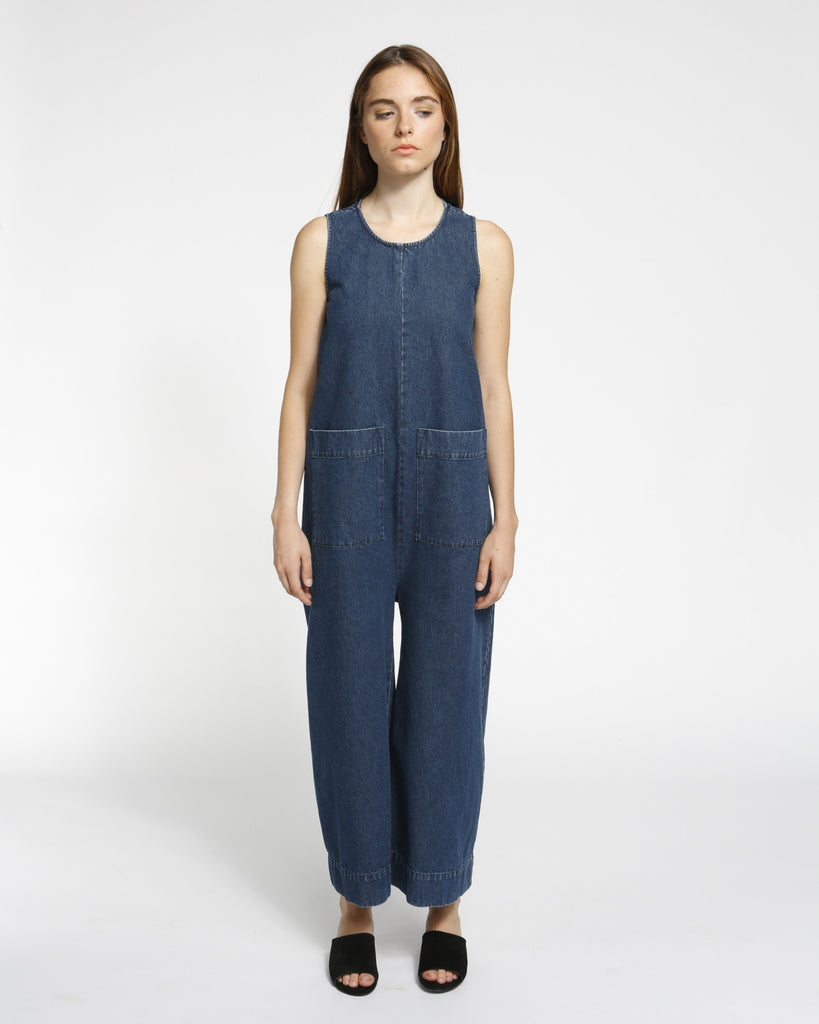 Harry Jumpsuit in Denim - Founders & Followers - Ilana Kohn - 1